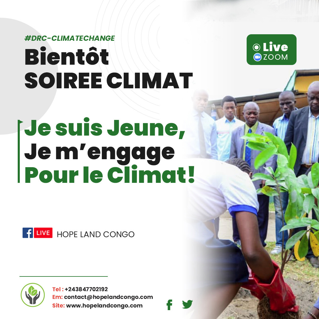 SOIREE CLIMAT : JE SUIS JEUNE, JE M'ENGAGE POUR LE CLIMAT.